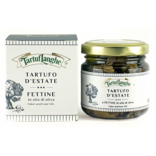Tartuflanghe Black summer truffle slices in olive oil 90g