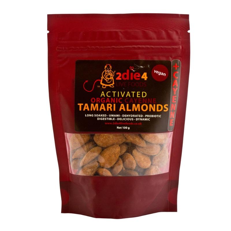 2die4 ORG Cayenne Tamari Almonds 100g