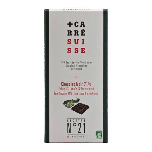 Carré Suisse Noir Lime Crisps & Green Pepper No21 100g