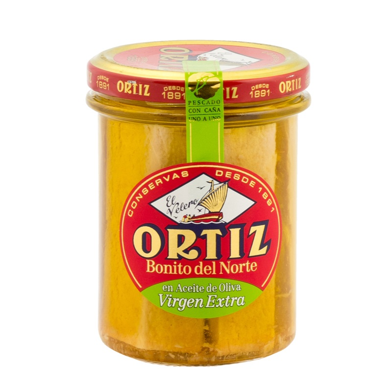 Ortiz Bonito del Norte White Tuna in olive oil in glass jar 150g