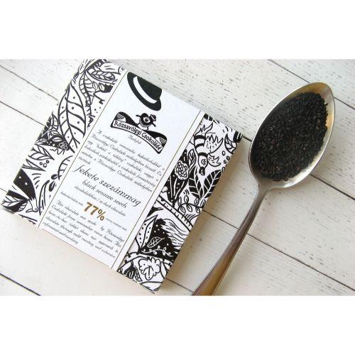 Rózsavölgyi Black Sesame Seeds in Dark Chocolate 77% 70g