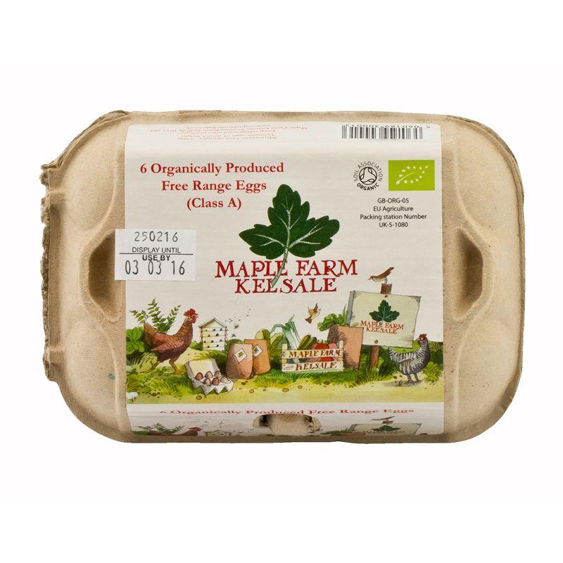 Maple Farm* 6 Organic Free Range Eggs