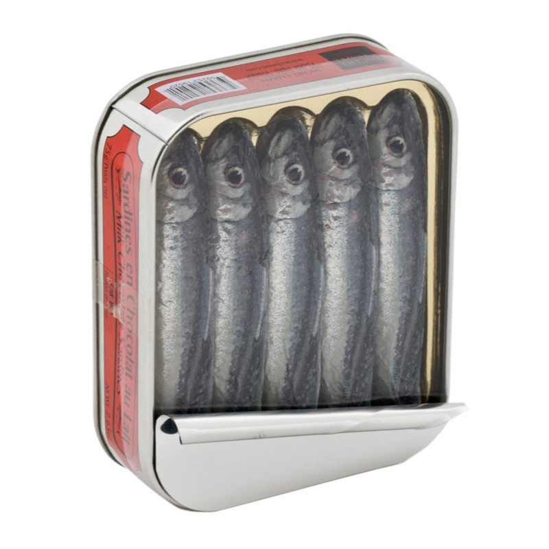 MC Sardines en Chocolat chocolate sardines in a tin 75g