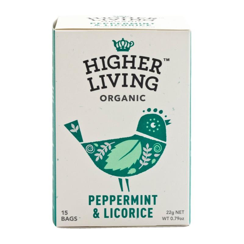 Higher Living Organic Peppermint&Licorice Tea 22g