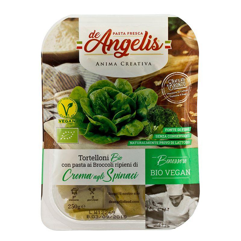 De Angelis* Organic Tortelloni Broccoli ripieni di Crema agli Spinaci 250g