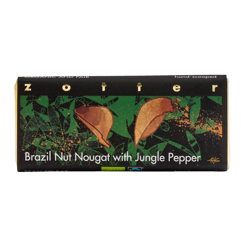 Zotter Brazil Nut Nougat with Jungle Pepper 70g