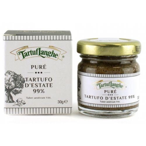 Tartuflanghe Summer black truffle Tuber Aestivum Puree 99% 30g