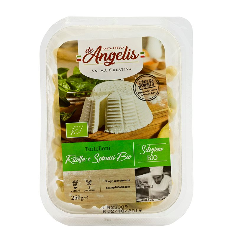 De Angelis* Organic Tortelloni Ricotta e Spinaci 250g