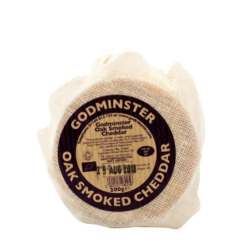 Godminster Oak-Smoked Vintage Cheddar  200g