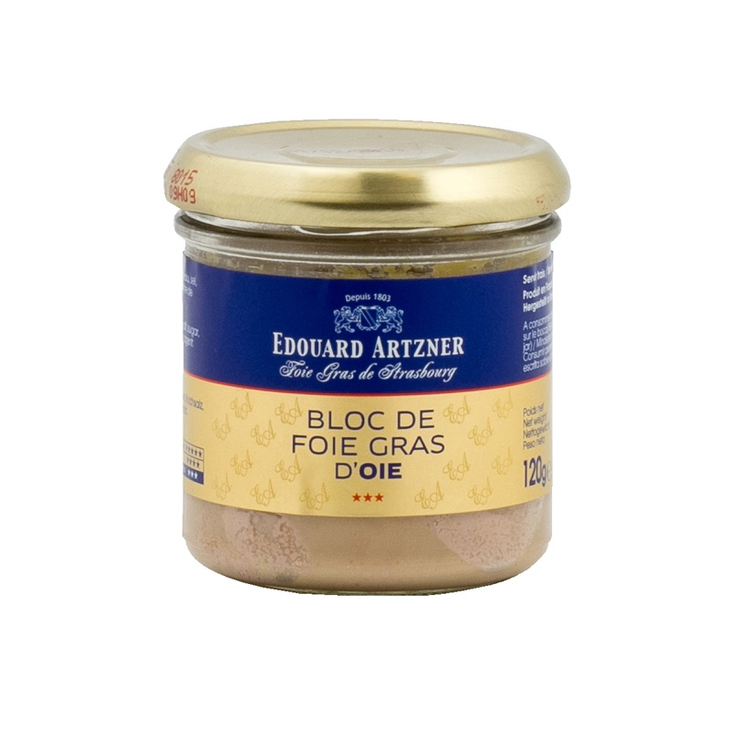 E.Artzner* bloc de foie gras d'oie goose 120g