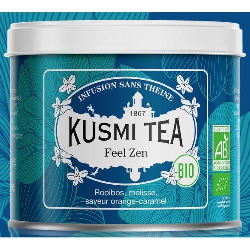 Kusmi Feel Zen Organic Loose Rooibos Tea Tin 100g