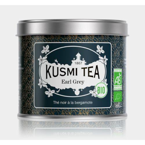 Kusmi Earl Grey Organic Loose Black  Tea Tin 100g