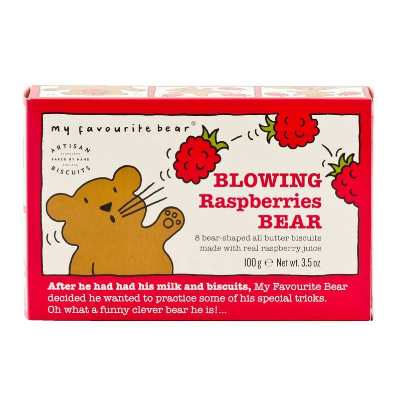 AB Raspberries bear Biscuits 100g