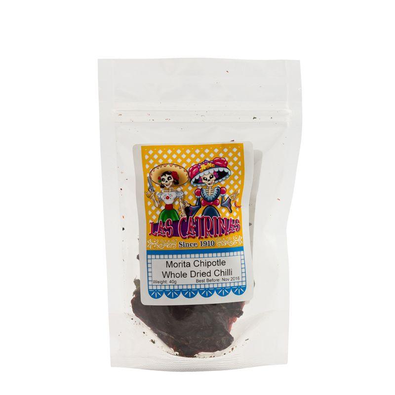 Las Catrinas Morita Chipotle Chilli Whole, Dried  40g
