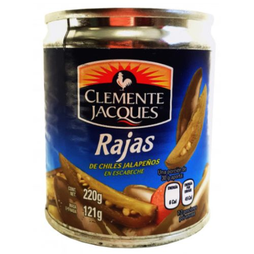 Clemente Jacques Rajas Jalapeno Slices 220g