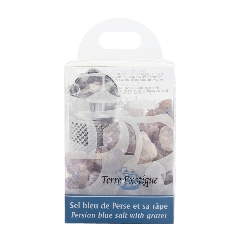Terre Ex. persian blue salt with grater 400g
