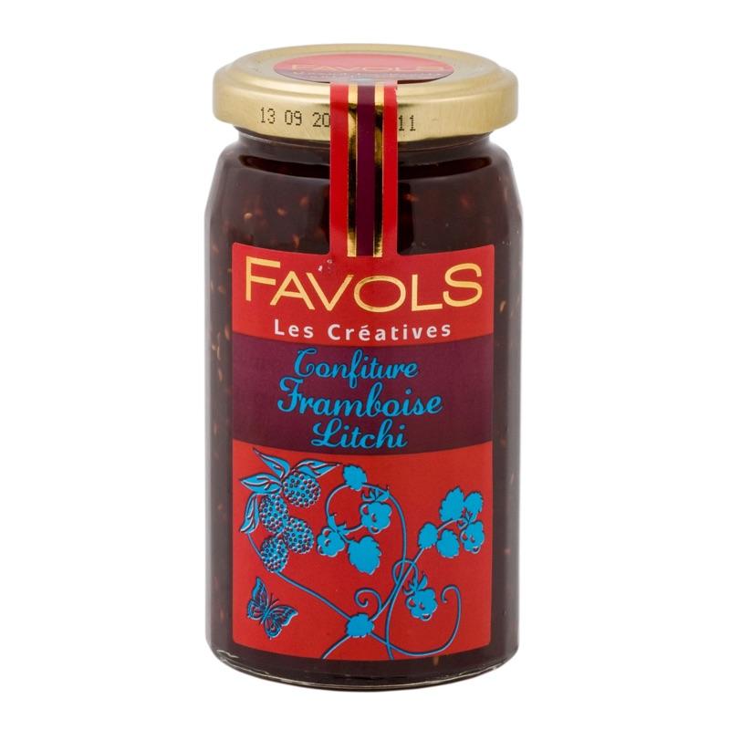 Favols jam raspberry lychee 270g