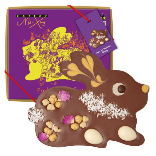 Zotter Mi-Xing Bunny with Raspberry Filling 100g