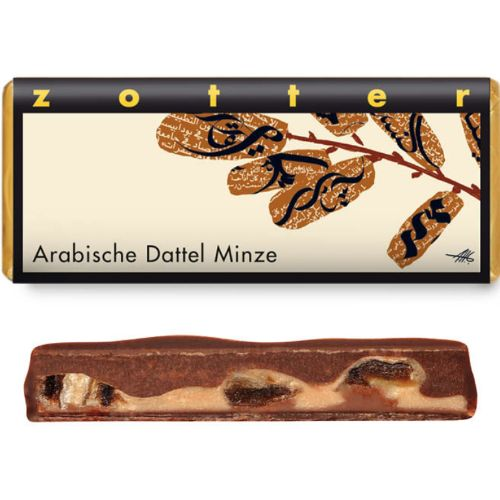 Zotter Arabic dates with mint 70g