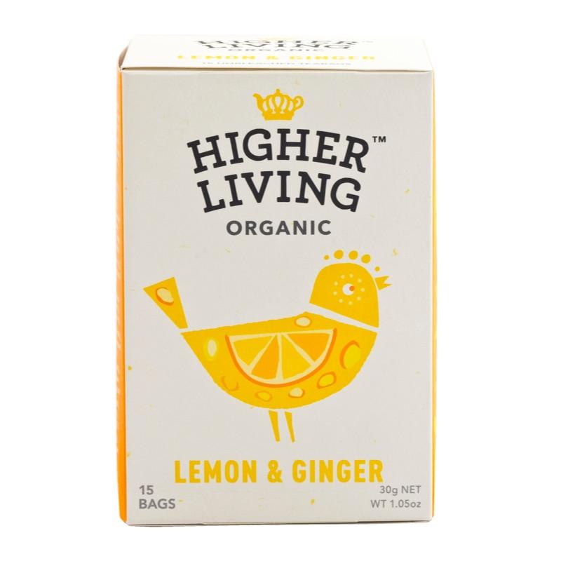 Higher Living Organic Lemon&Ginger Tea 30g