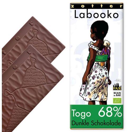 Zotter Labooko Togo 68% Vegan 70g