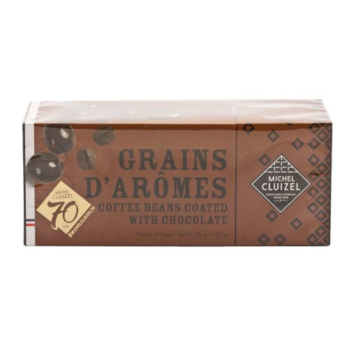 Michel Cluizel Grains d'Aromes Coffee Beans Coated with Dark Chocolate 120g