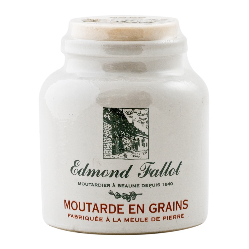 E.Fallot Dijon Mustard wholegrain in a pot 250g