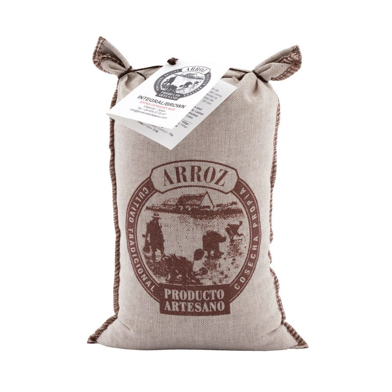 Arroz Integr.Brown Brown rice in textile bag 1kg