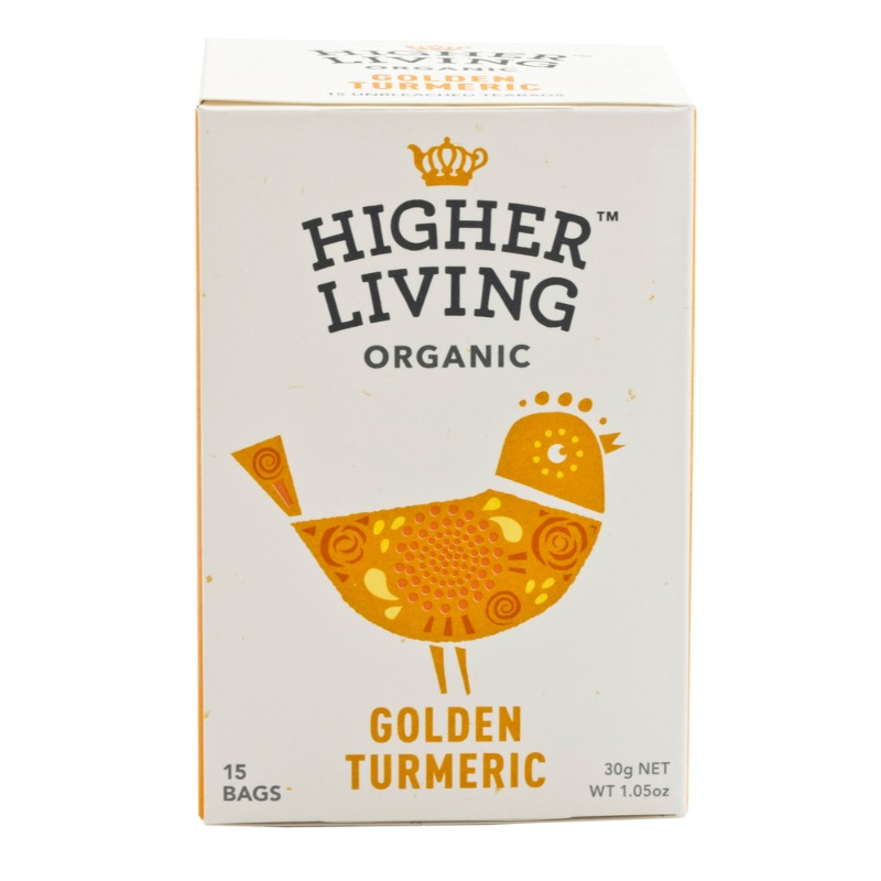 Higher Living Organic Golden Turmeric Tea 30g