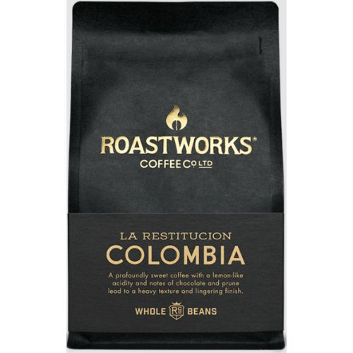 Roastworks Coffee Colombia Whole Bean 200g