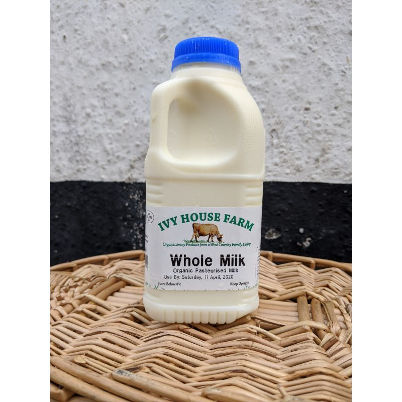 Ivy House* Full fat organic Jersey milk 1pint