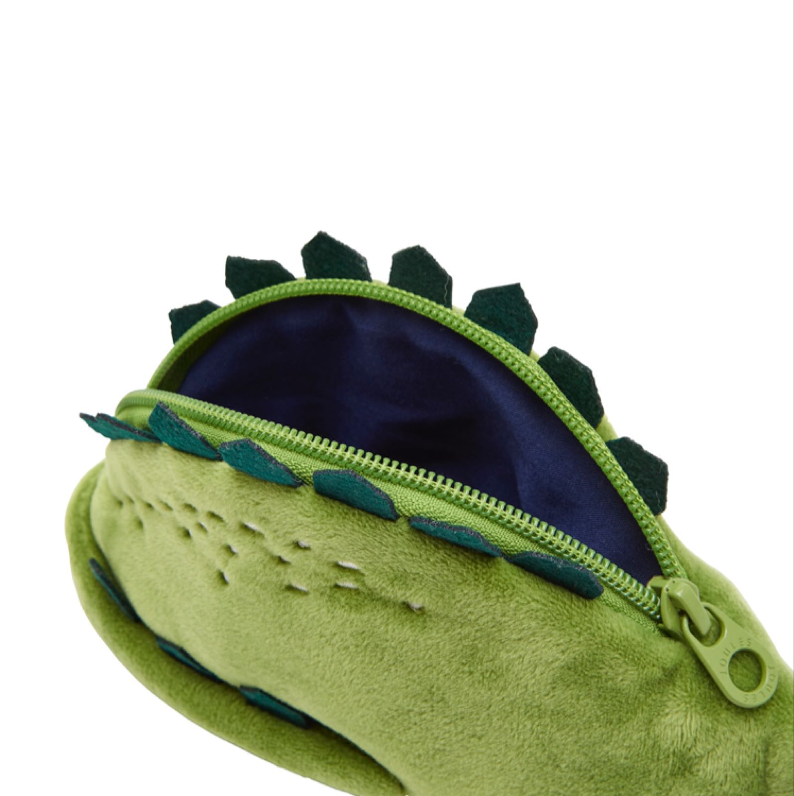 Joules fluffy dinosaur pencil case