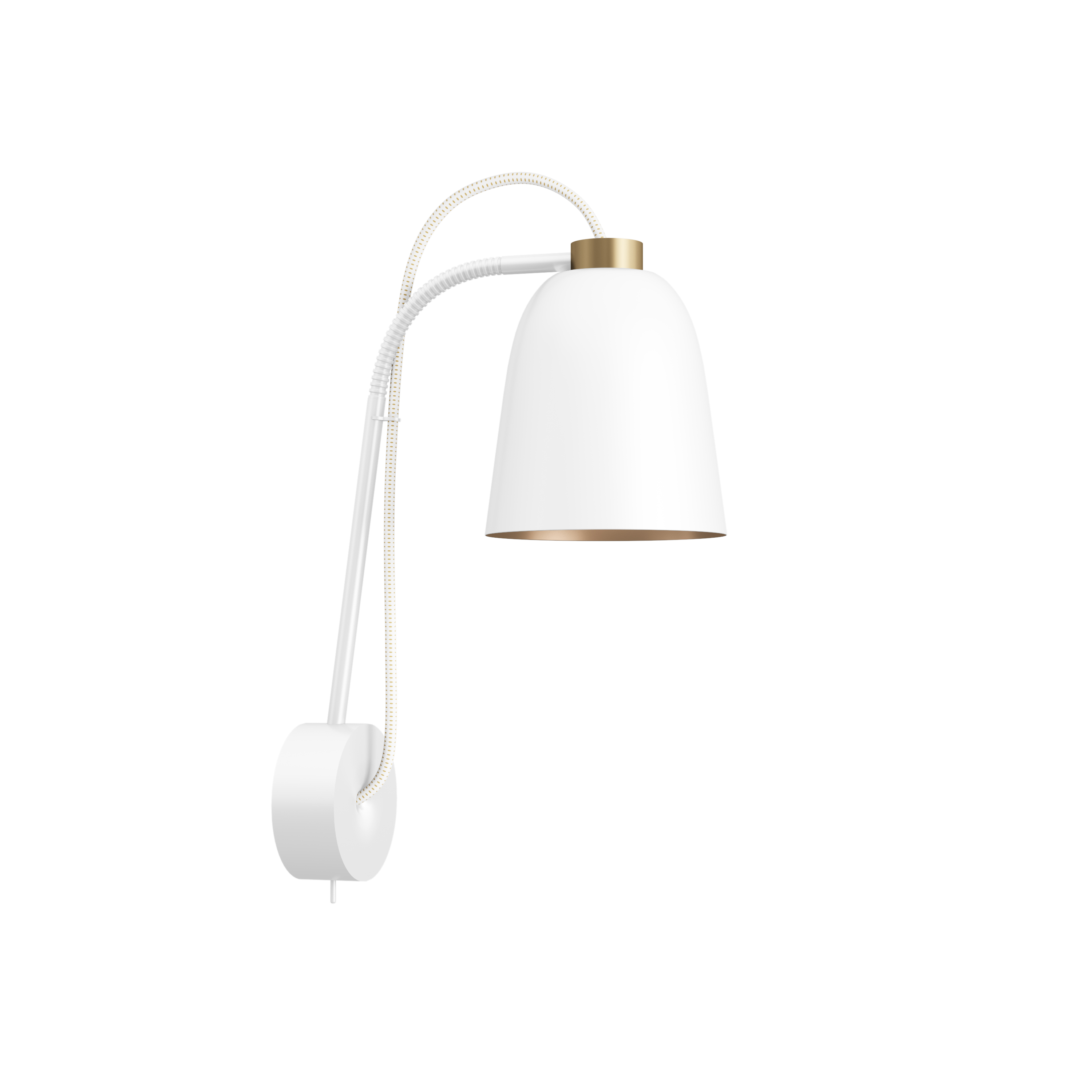 SUMMERA Wall Matt White/Gold - Gold + White/Gold Cord (Incl. Matt White Base)