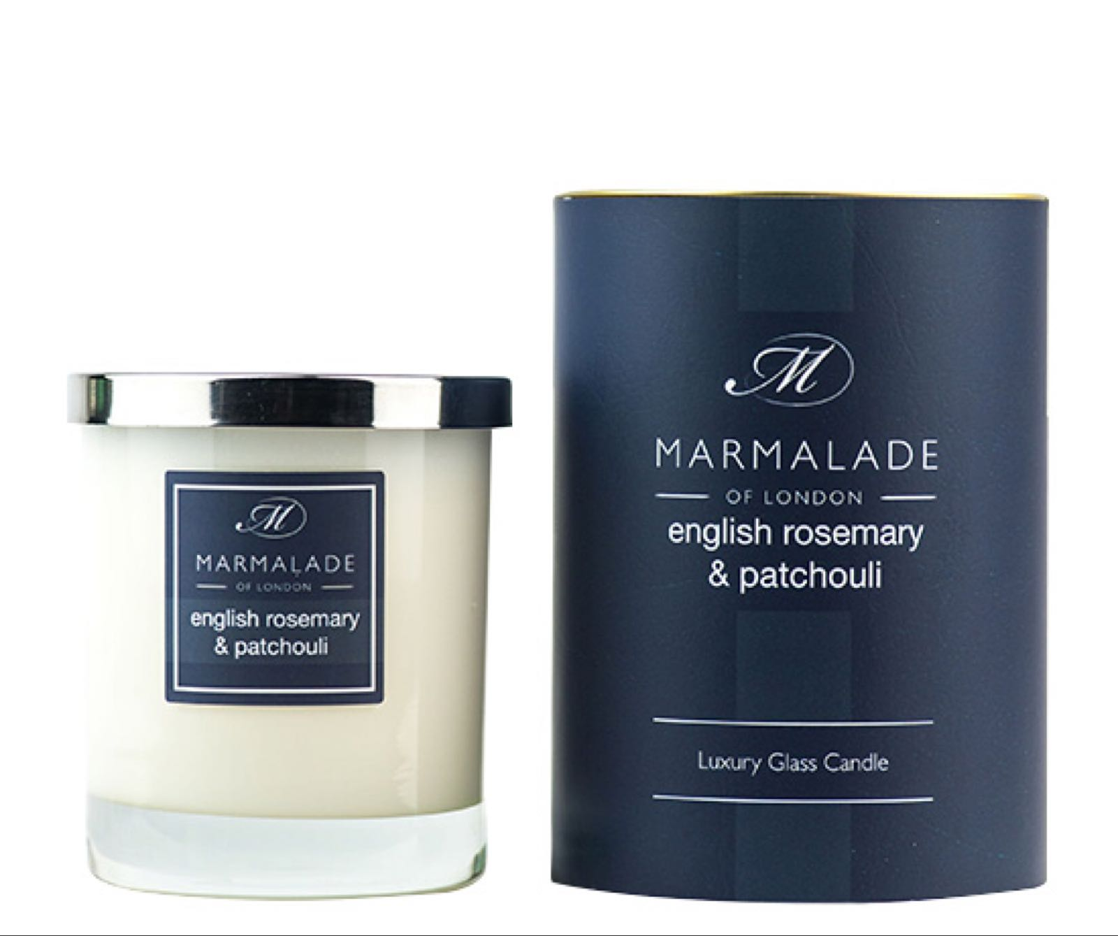 English Rosemary & Patchouli Glass Candle