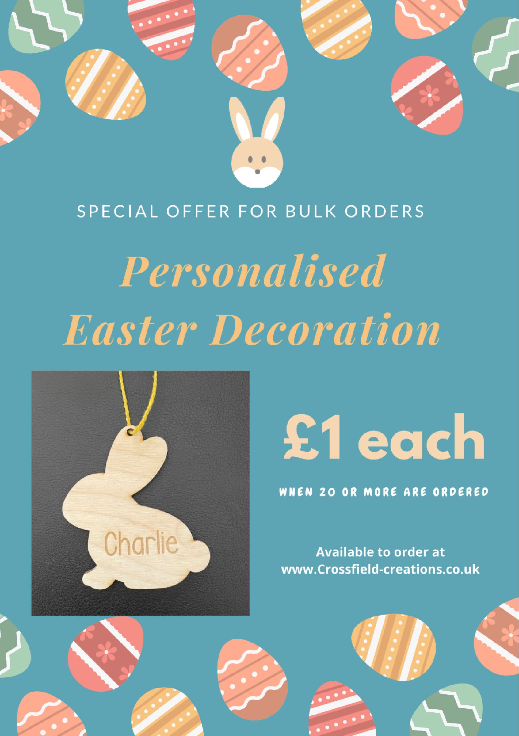 Teacher Offer- Personalised Easter Decoration