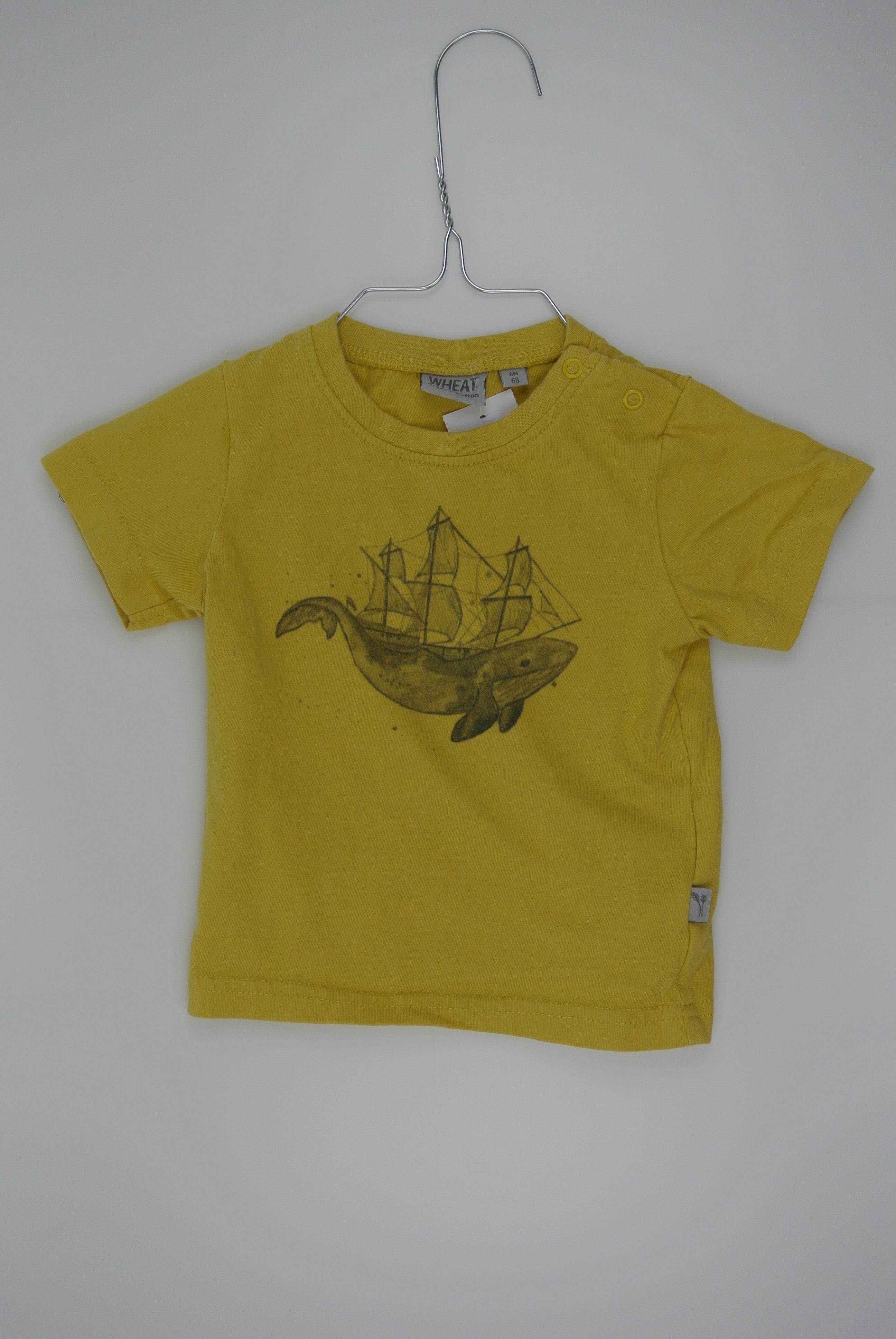 Wheat t-shirt str 68 dreng