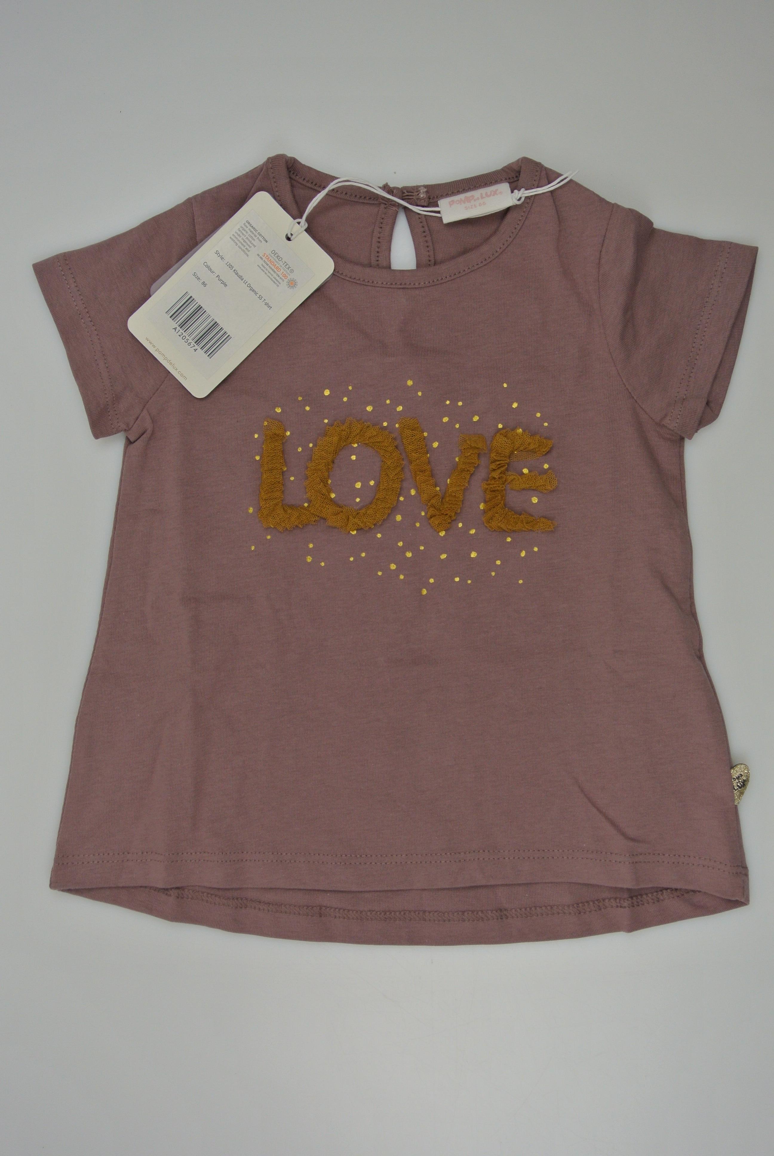 Pompdelux t-shirt str 86 pige ny