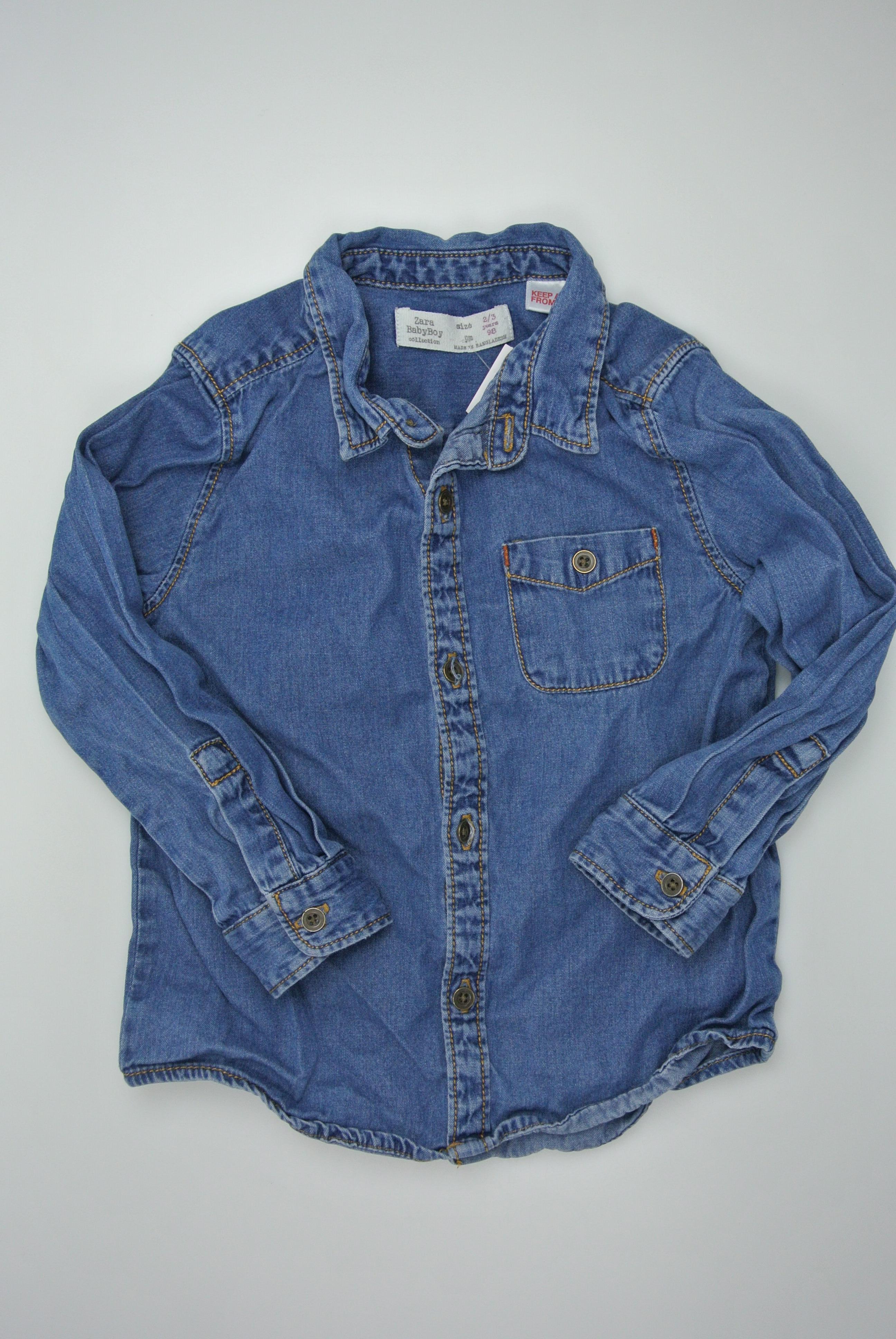 Zara skjorte str 98 dreng