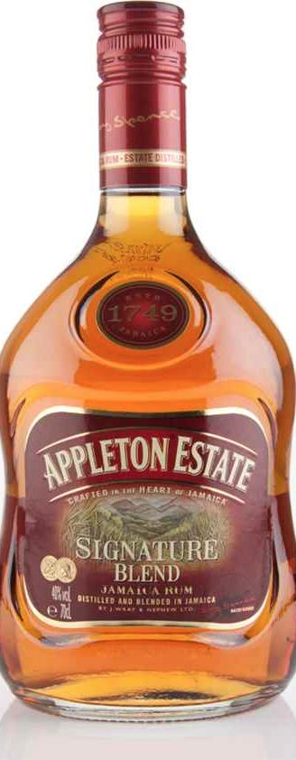 50ml - Appleton spiced rum and bottle of ginger ale