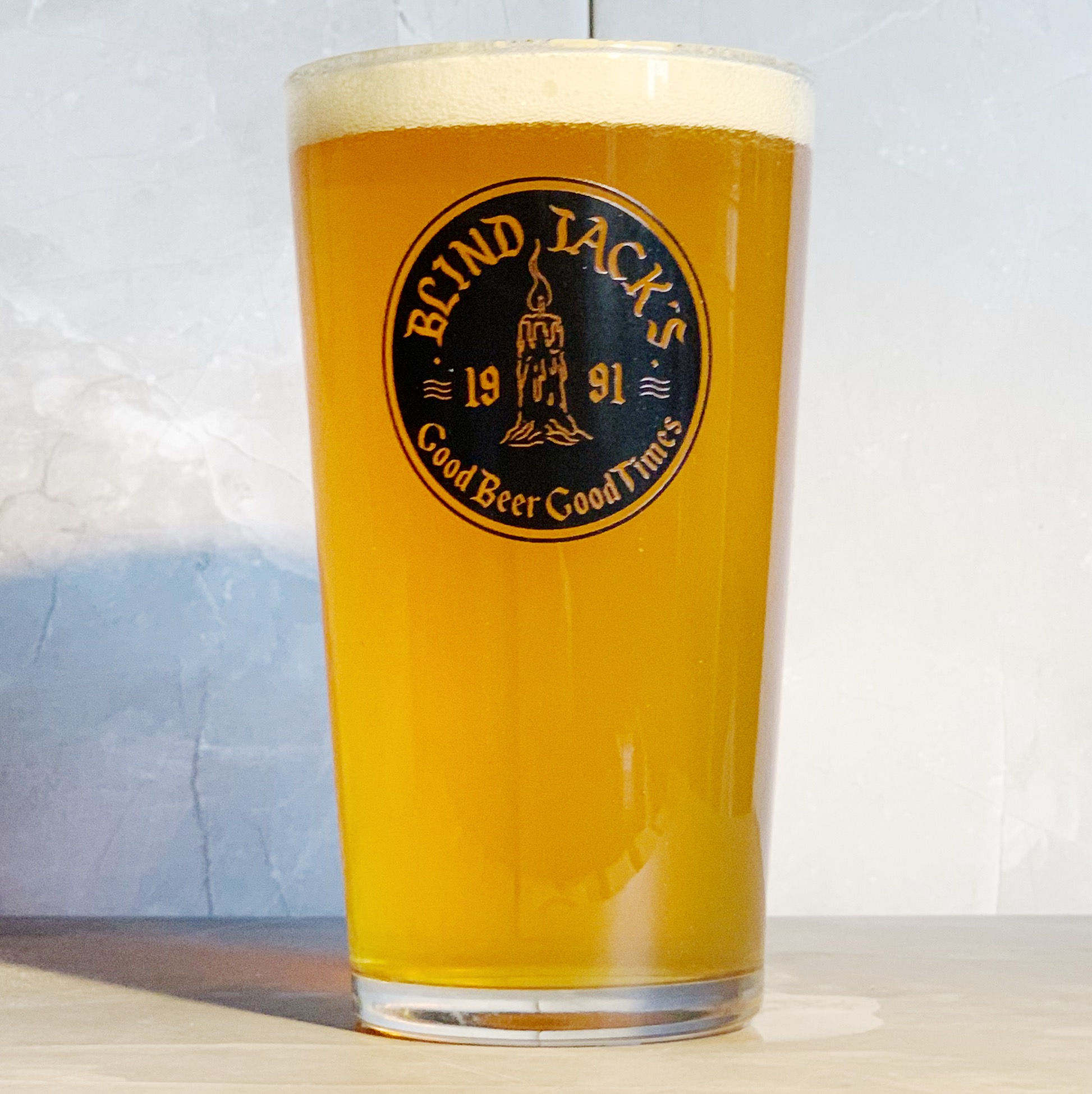 BLIND JACK'S LOGO PINT GLASS