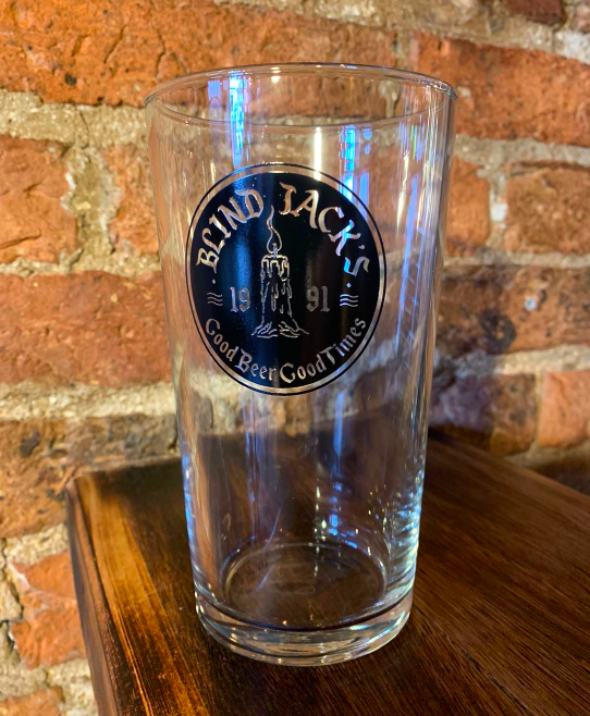 A Blind Jack's Pint Glass