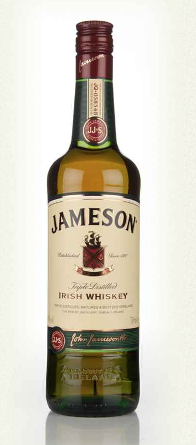 50ml - Jameson Irish Whiskey and bottle of Coke