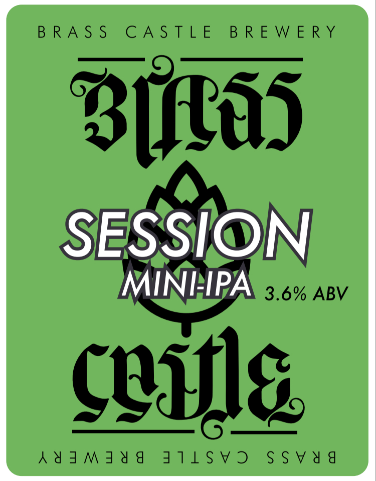 2 PINT From Cask - Brass Castle - Session Mini IPA- 3.6% Blonde Ale