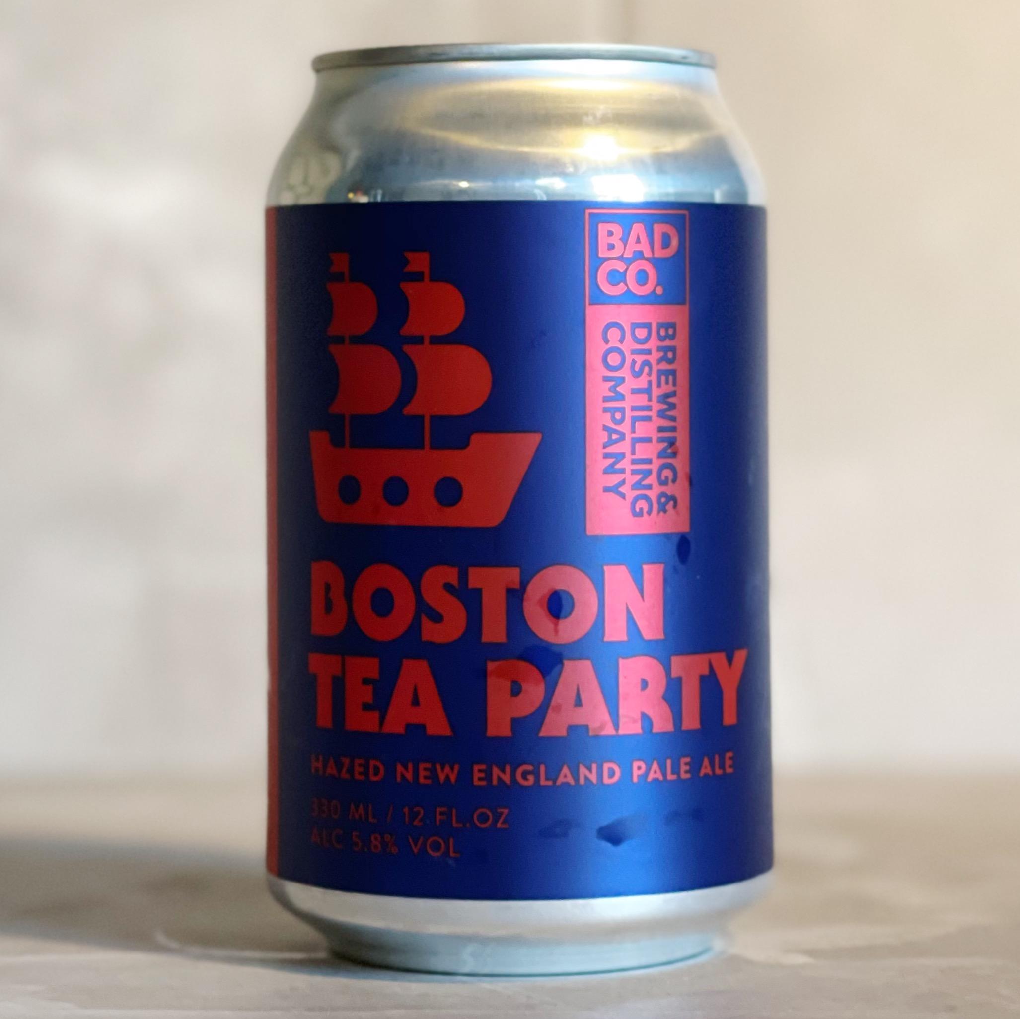 BAD CO   BOSTON TEA PARTY   NEIPA   5.8% ABV   330ML