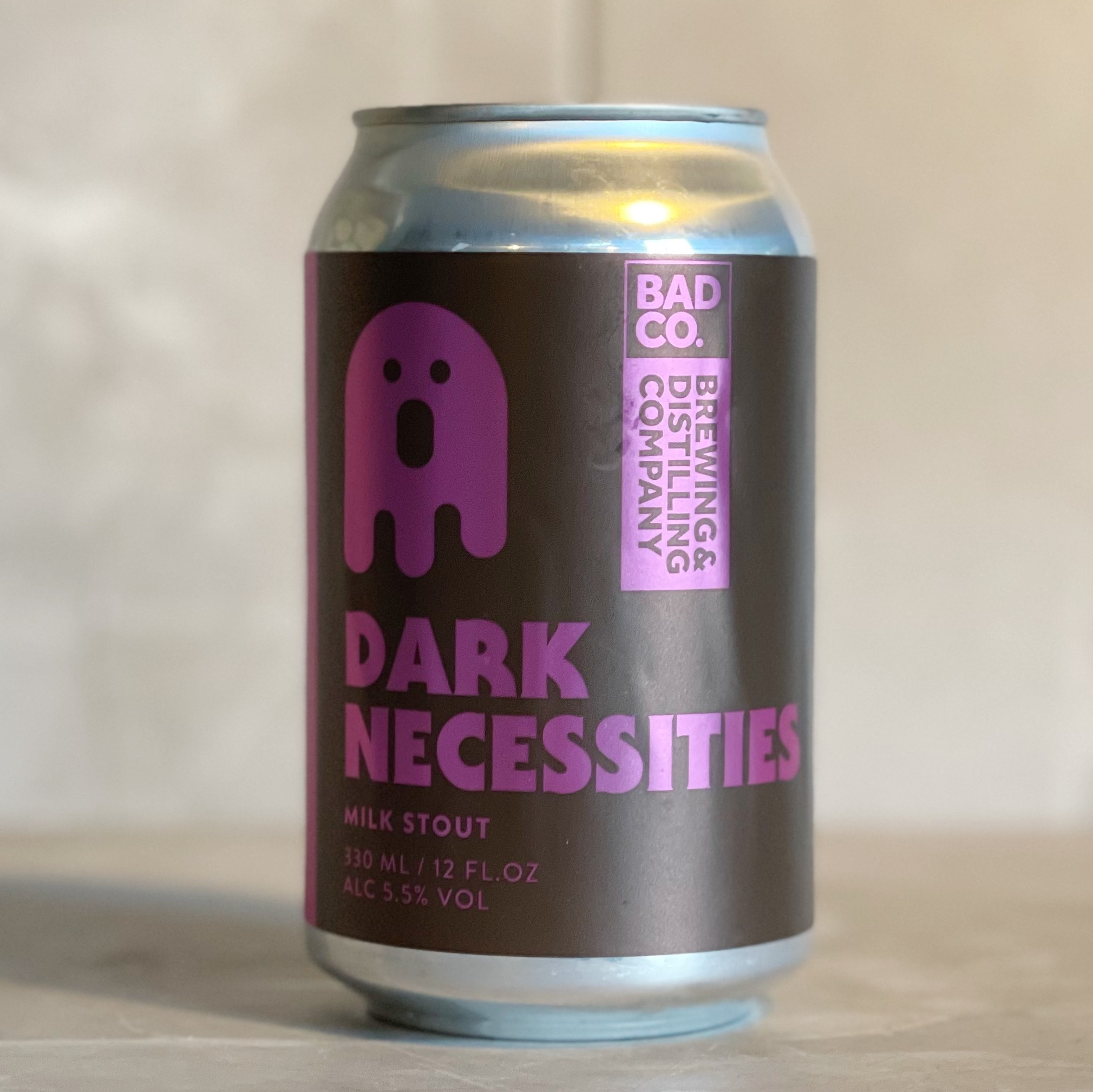 BAD CO | DARK NECESSITIES | MILK STOUT | 5.5% ABV | 330ML