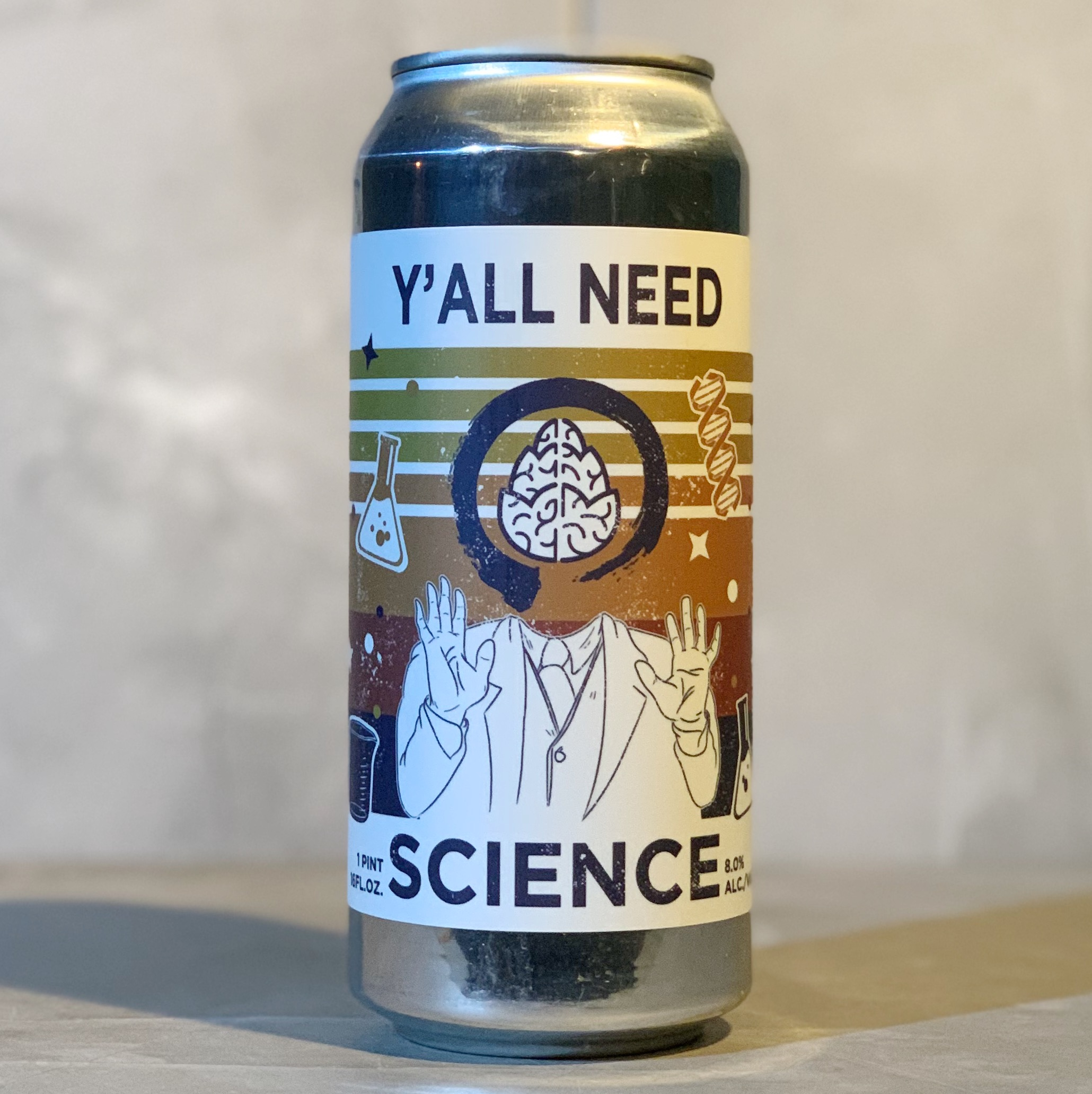 [ USA IMPORT ] EQUILLIBRIUM X CEREBRAL | YA'LL NEED SCIENCE | DIPA | 8.0% ABV | 473 ML
