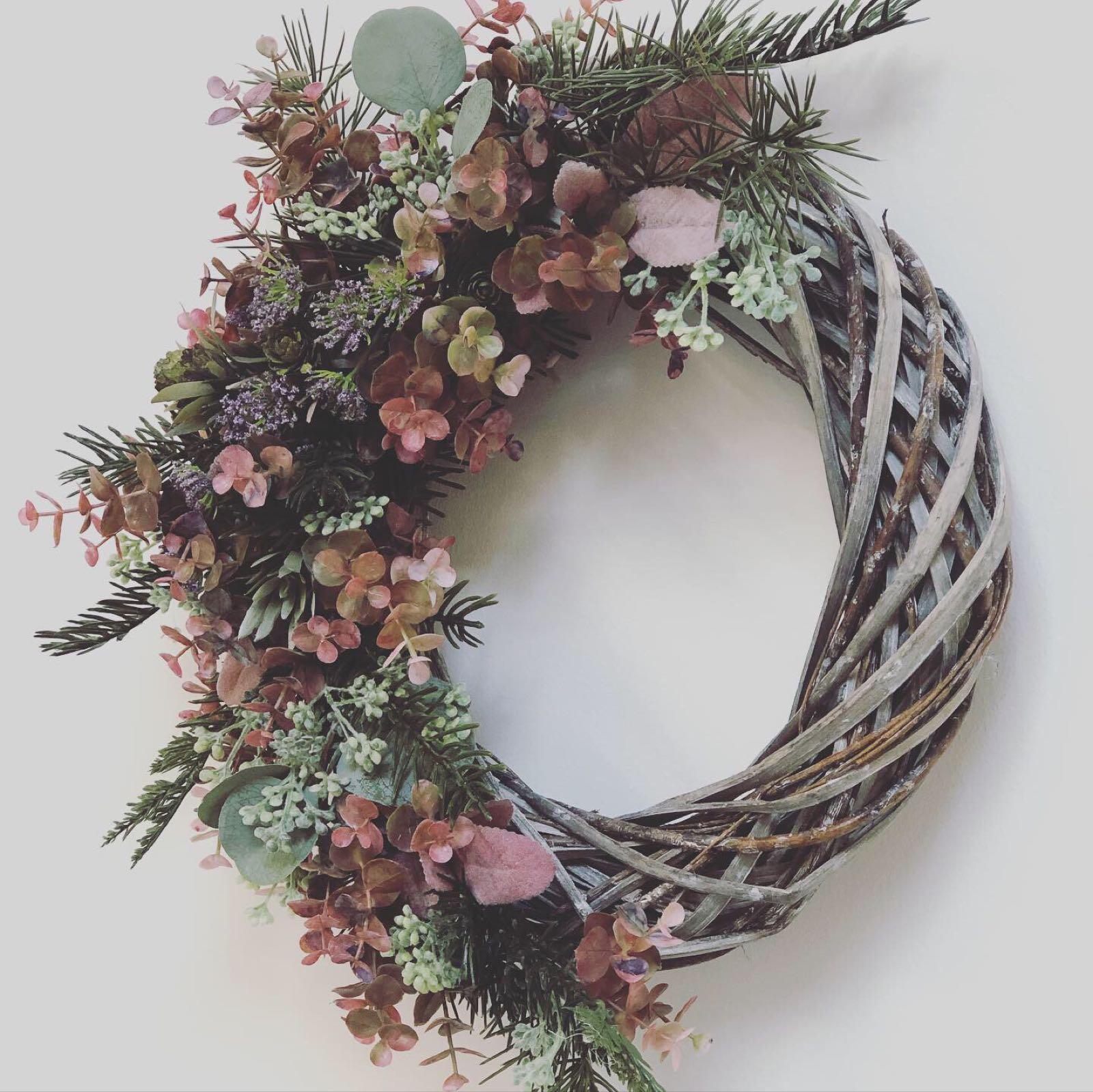 Petals and Peas Skara Scandinavia style wreath 30cm