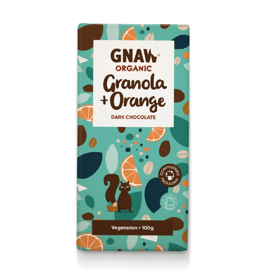 Granola & Orange Dark Chocolate Bar, Organic Gnaw