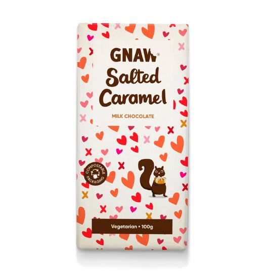 Salted Caramel Milk Chocolate Bar, Gnaw