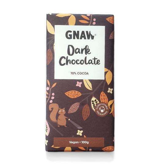70% Dark Chocolate Bar, Gnaw